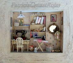 Mini Nähzimmer, sewing room, Miniatura de cuarto de costura