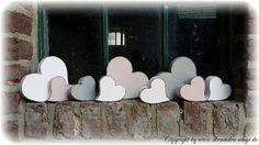 Muttertag Herz, Herzen, Zum Muttertag aus Holz von Handgemachte Holzarbeiten & dekorative Geschenke by Alexandra Sangs auf DaWanda.com