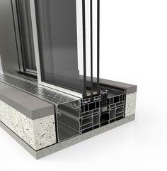 Sprawdź Cortizo Cor-Vision PLUS i zarabiaj więcej Curtain Wall Detail, Window Detail, Door Detail, House Roof Design, Facade Design, Door Design, Sliding Windows, Windows And Doors, Covered Patio Design