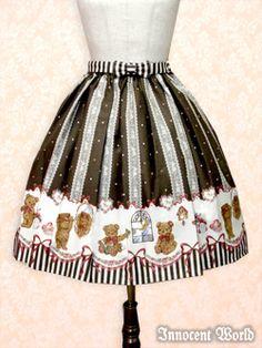 Innocent World - Skirt - Night Bear Skirt /// ¥15,540 /// Waist:  50-100 Length:  Short 55 // Middle 63