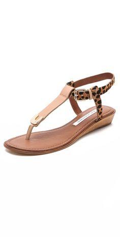 Diane von Furstenberg Dion Demi Wedge Sandals  #Wedges #2dayslook #Wedgesfashion  www.2dayslook.com