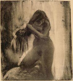Edgar Degas, 'Woman combing her hair'