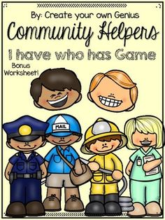 Community helpers I have who has Game! Community Helpers For Kids, Teachers Pet, Social Studies, Students, Study, The Unit, Graphics, Activities, Game