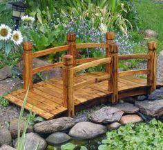 Wooden Garden Pond Bridge - 5'