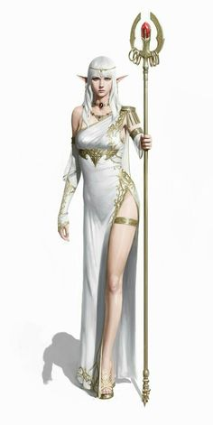 Female Elf Noble Aristocrat Sorcerer - Pathfinder PFRPG DND D&D d20 fantasy