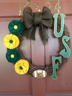 University of South Florida Wreath by CoastersByMika on Etsy, $40.00