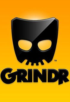 "Gay ""dating"" app Grindr that for some reason has a very sinister-looking logo."