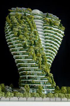 Agora garden, luxurious residental tower Taipei, Taiwan  by Vincent Callebaut