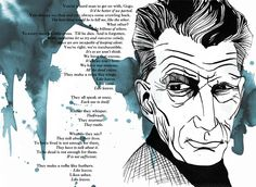 "Samuel Beckett #Illustration with a passage from ""Waiting for Godot"""