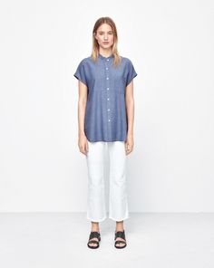 Tencel cap sleeve shirt, Filippa K