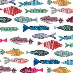 No es al primera vez que posteo estampados de peces , pero es que me encantan estos diseños ¿ Y a tí? Enlaces: http://www.anna-victori...