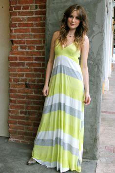 Eight Sixty, Striped Spring Maxi Dress