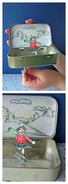 Skater on paper clip, use magnet below to move.  Pair with winter story writing.