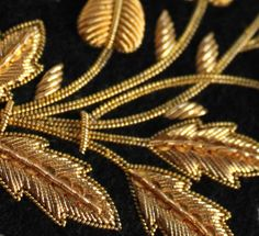 Amazing goldwork from the London Embroidery School. They also run a Beginners Goldwork Evening Class