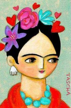 Kahlo Paintings, Frida Art, Chicano Art, Doll Painting, Mexican Folk Art, Blue Bird, Art Pictures, Art For Kids, Pop Art