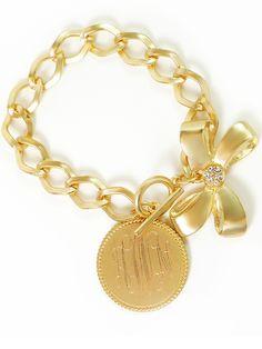 bow monogram bracelet