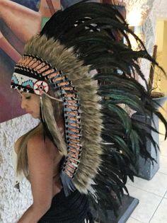 War bonnet Coiffes indienne Kopfschmuck Indianerschmuck Miss Java federhaube