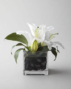 "John-Richard Collection ""Evening White"" Faux Floral - Horchow"