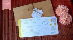 Gold Rustic Garden Boarding Pass Wedding Card, Kuala Lumpur Malaysia Garden Wedding