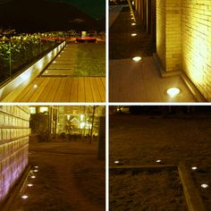 10PCS 6W Free Shiping IP67 Outdoor Waterproof Round  LED Step lights LED underground light DC12V LED Deck Lights LED Step Light