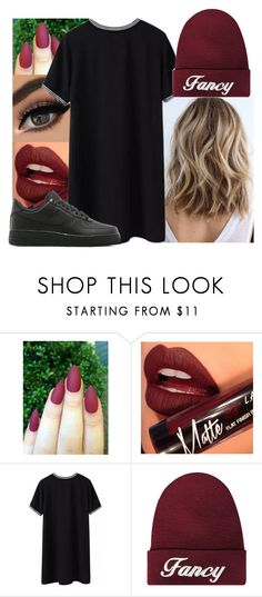 """""""'Picture me rollin in my 500 Benz'"""" by jo-ellehadi ❤ liked on Polyvore featuring Fiebiger, NIKE, women's clothing, women's fashion, women, female, woman, misses and juniors"""