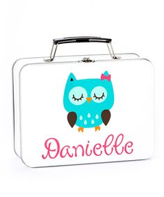 Turquoise Owl Personalized Lunch Box #zulily #zulilyfinds