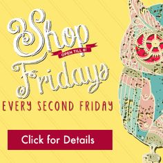 Shop Late Friday - Every Second Friday | Downtown Fort Collins  Shop Late Friday continues on the 2nd Friday of the month!   A variety of shops Downtown will keep their doors open until 8pm on Shop Late Friday!  See participating shops here - http://downtownfortcollins.com/events/late-night-friday-shopping  #dofoco #fortcollins