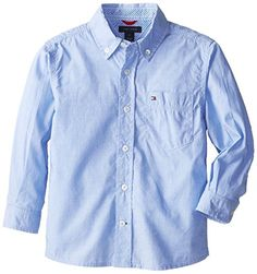 Tommy Hilfiger Boys' Vineyard Long Sleeve Shirt ** To view further, visit
