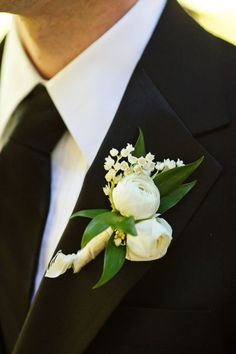 #boutonniere Photography by nadiadphoto.com Floral Design, Event Planning + Coordination by edgedesignatlanta.com Read more - http://www.stylemepretty.com/2012/04/16/atlanta-wedding-at-barnsley-gardens-resort-by-nadia-d-photography/