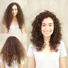Medium haircut ~  Love the curl, after the cut!