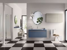 浴室家具 / 洗脸池柜 PROGETTO - Composition 3 Progetto 系列 by INDA® 设计师Sergio Brioschi