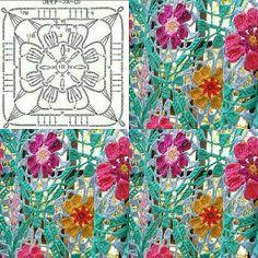 Tecendo Artes em Crochet: Squares
