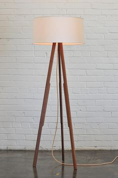 Modern Furniture and Lighting made in the USA / Solstice Floor Lamp (linen/red) White Floor Lamp, Modern Floor Lamps, I Love Lamp, Concrete Floors, Oak Flooring, Basement Flooring, Stained Concrete, Entryway Flooring, Ceramic Flooring