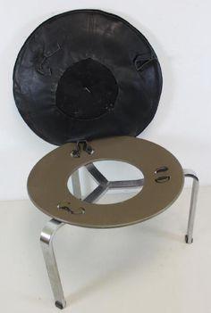 Lot: Midcentury Poul Kjaerholm PK 33 Stool., Lot Number: 0375, Starting Bid: $750, Auctioneer: Clarke Auction Gallery, Auction: Fine Art, Jewelry, Modern Design & Antiques, Date: April 23rd, 2017 PDT