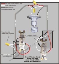 4cbc56d045842a5a1c510bcbffdc9782 how to wire a three way switch three way switch wiring 3 way switch diagram (power into light) for the home pinterest wiring 3 way light switch diagram at webbmarketing.co