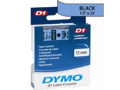 Dymo Black Print- Blue Tape, 1-2 X 23