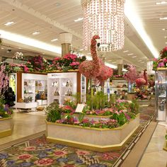 Floral Flamingo's at Macy's flower show