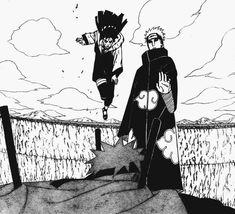 Hinata y Naruto vs Pain