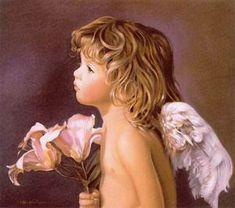 Morgen Thruston: Painting angels