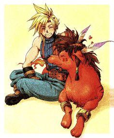 Week 7 - Final Fantasy VII - Fan Art Wed - Cloud and Red