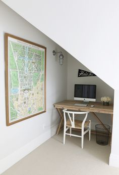 desk nook + versailles map