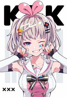 Kaguya Luna x Kizuna Ai 5 Anime, Girls Anime, Fanarts Anime, Anime Life, Kawaii Anime Girl, Manga Girl, Anime Art Girl, Anime Characters, Character Art