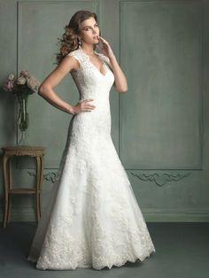 Sleeveless V Neck Wedding Dress