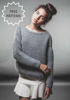 Classic Sweater Free Knitting Pattern