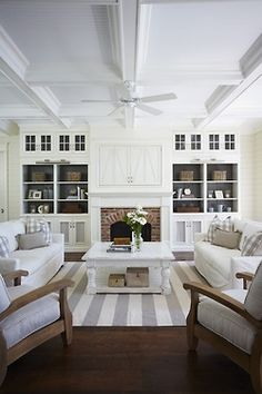 Coffered Ceilings and shelves