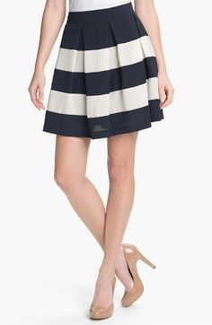 Collective Concepts Stripe Skirt for an inverted triangle body shape
