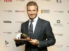 David Beckham from The Big Picture: Today's Hot Pics  Congrats! The athlete receives the Legend of Football Award in London.