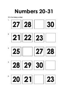 124 Best Skip Counting, Ten Frames, tallies, Missing