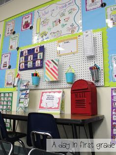 Lots of very nice classroom photos - cute and organized classroom