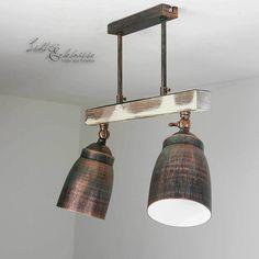 Eindrucksvolle Vintage Deckenleuchte Shabby 2x E27 Deckenlampe Wohnzimmer innen | eBay